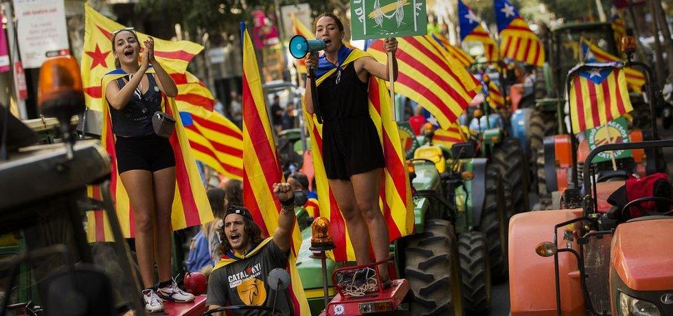 Zastánci katalánské nezávislosti