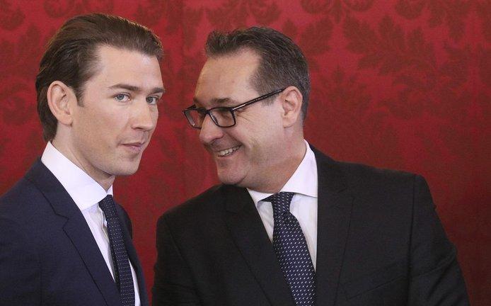 Sebastian Kurz (vlevo) a Heinz-Christian Strache