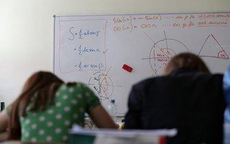 Maturita z matematiky - ilustrační foto