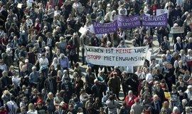 Demonstrace proti růstu nájmů v Berlíně