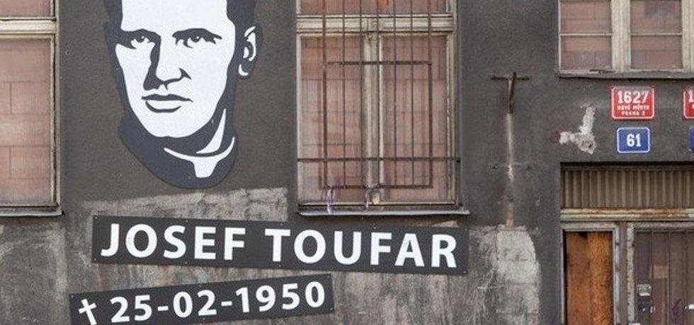 Podobizna čihošťského faráře Josefa Toufara umučeného estébáky.