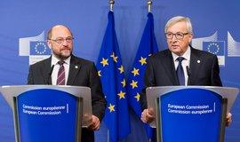 Martin Schulz a Jean-Claude Juncker