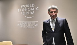 Český premiér Andrej Babiš na Světovém ekonomickém fóru v Davosu