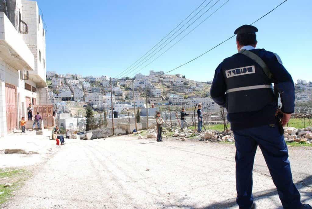 Izraelský policista na Západním břehu Jordánu, ilustrační foto