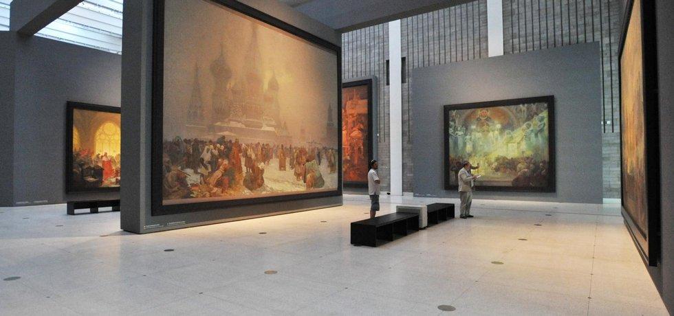 Slovanská epopej se vrátila do Veletržního paláce