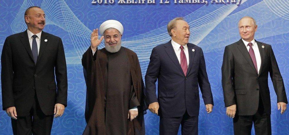 Aliev, Rúhání, Nazarbajev, Putin