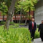 Donald Trump a Kim Čong-un v Singapuru, ilustrační foto
