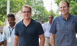 Matt Damon a šéf organizace Water.org Garry White.