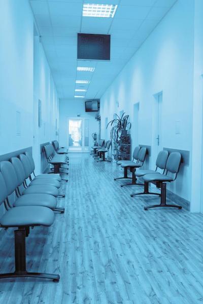 chodba, čekárna, nemocnice
