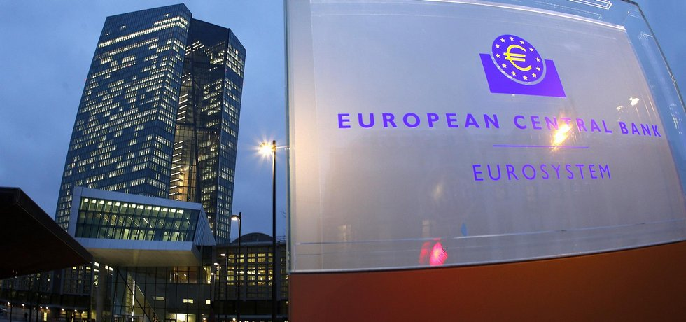 Nové sídlo Evropské centrální banky ve Frankfurtu.
