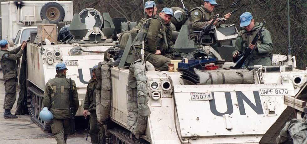 Modré přilby v Bosně, ilustrační foto