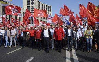 Komunisty zorganizovaný protest proti důchodové reformě v Rusku