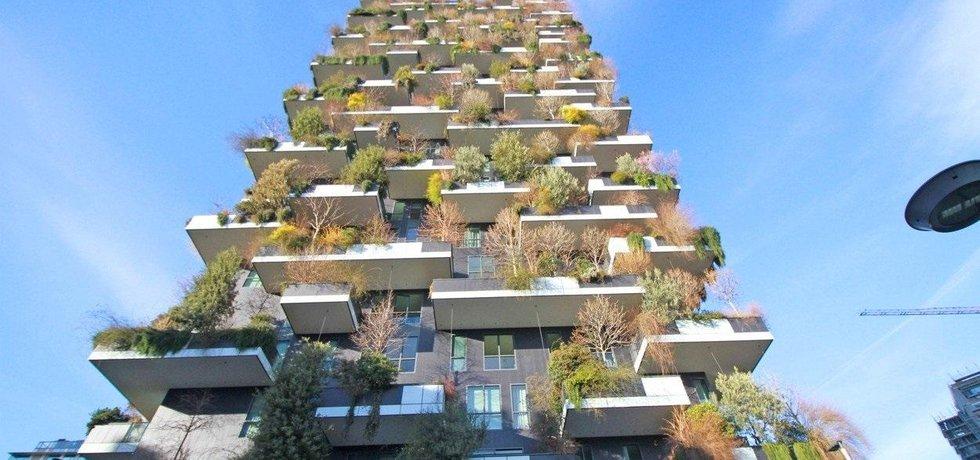 Stromy na budově v italském Milánu. Ilustrační foto.