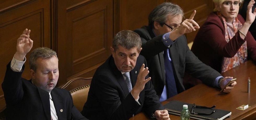 Richard Brabec, Andrej Babiš, Martin Stropnický a Karla Šlechtová