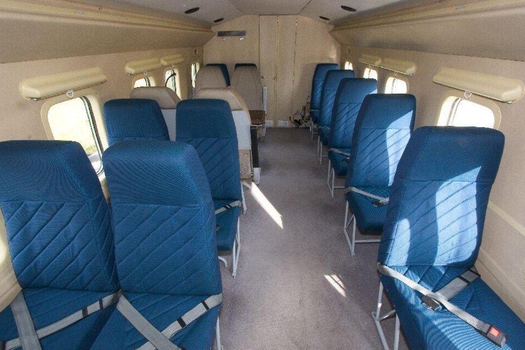 Interiér vrtulníku Mi-8 s trupovým označením 0001