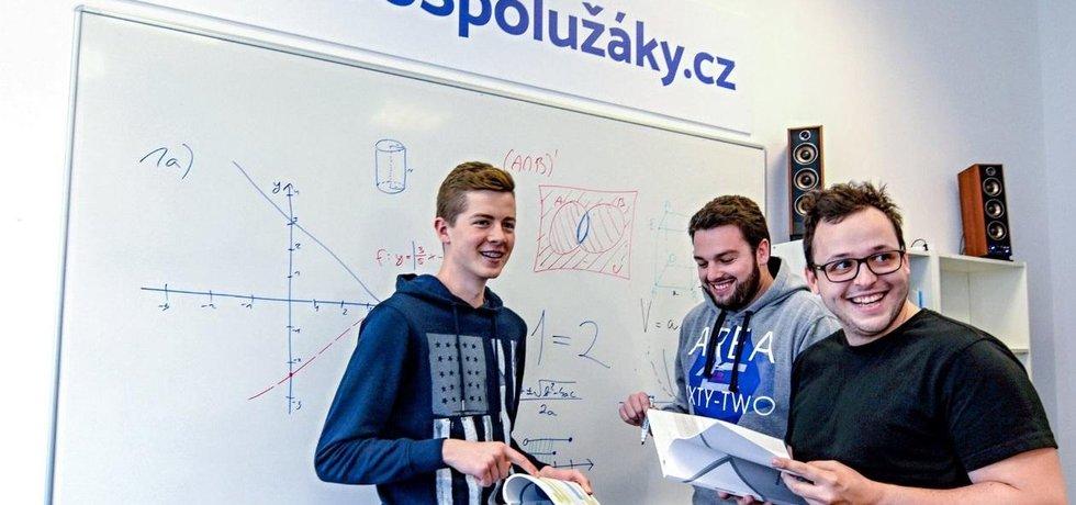 Tým projektu ProSpolužáky.cz. Zakladatel Marek Liška vpravo.