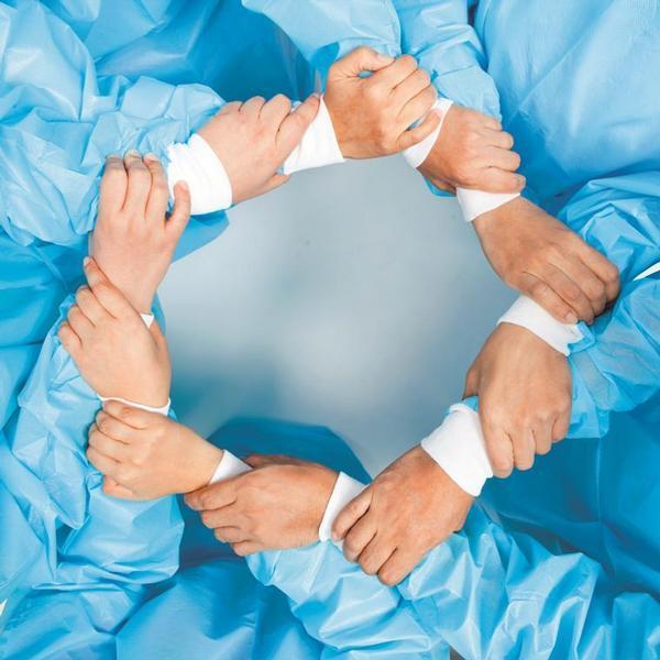 lékaři, ruce, spolupráce, jednota