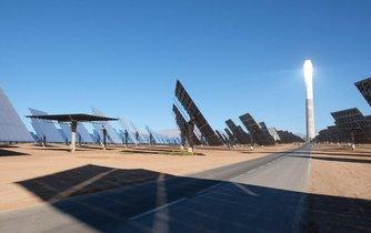 Solární elektrárna v Maroku, ilustrační foto