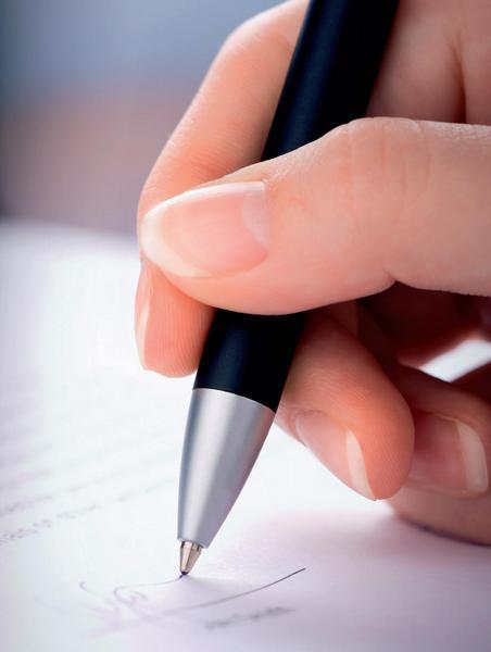 Ilustrační foto; podpis, pero