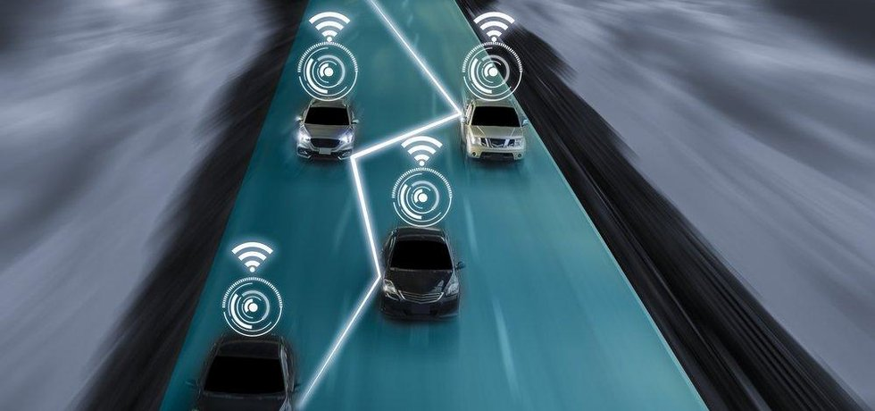 Vizualizace komunikace samořídících vozů