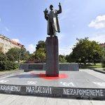 Socha sovětského maršála Ivana Koněva na Praze 6, ilustrační foto