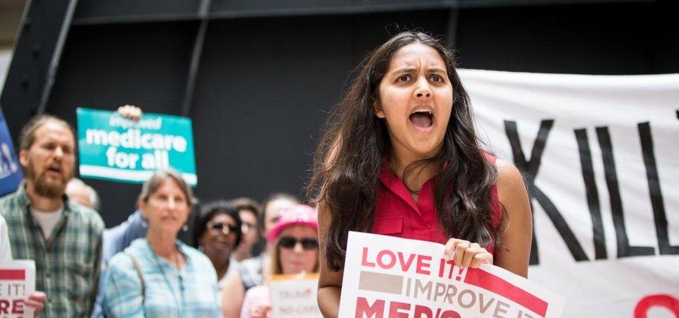 Protest proti zrušení Obamacare