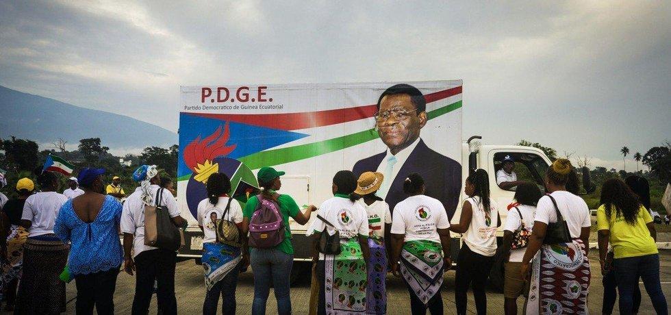 Prezident Rovníkové Guineje Teodoro Obiang Nguema Mbasogo je nejdéle sloužící hlavou státu v Africe