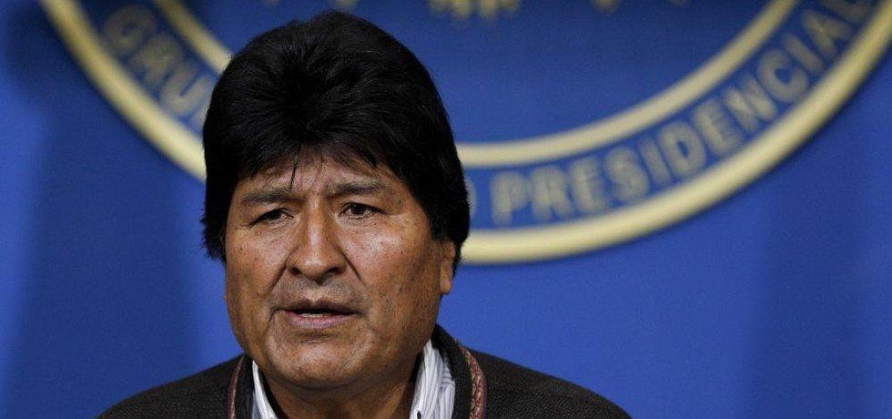Bolívijský excprezident Evo Morales
