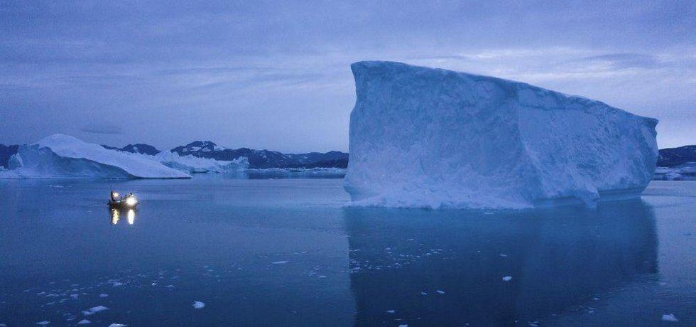 Grónské ledovce, ilustrační foto