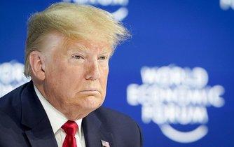 Americký prezident Donald Trump na Světovém ekonomickém fóru v Davosu