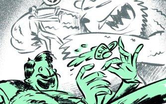Ilustrace k eseji Hledání bájného dubiska