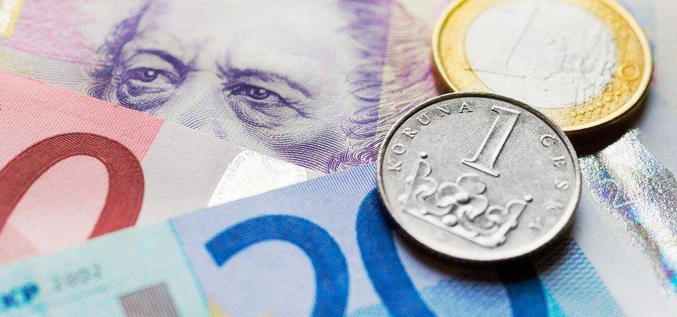 Koruny a eura