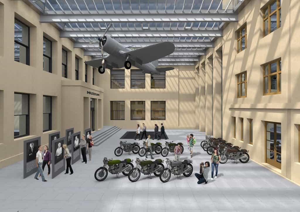 4301c9b2cb Zastřešením dvorany vznikne další výstavní prostor, kde se počítá i se  zavěšeným letounem.