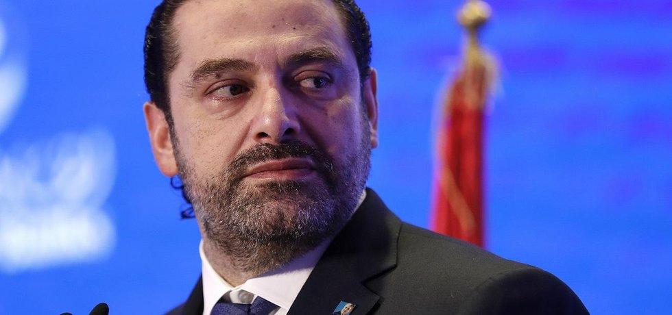 Libanonský premiér Saad Harírí