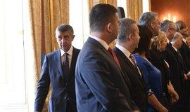 Prezident Miloš Zeman jmenoval nový kabinet premiéra Andreje Babiše