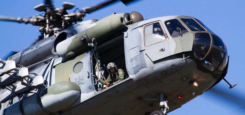 Vrtulník Mi 171 české armády v Náměšti nad Oslavou