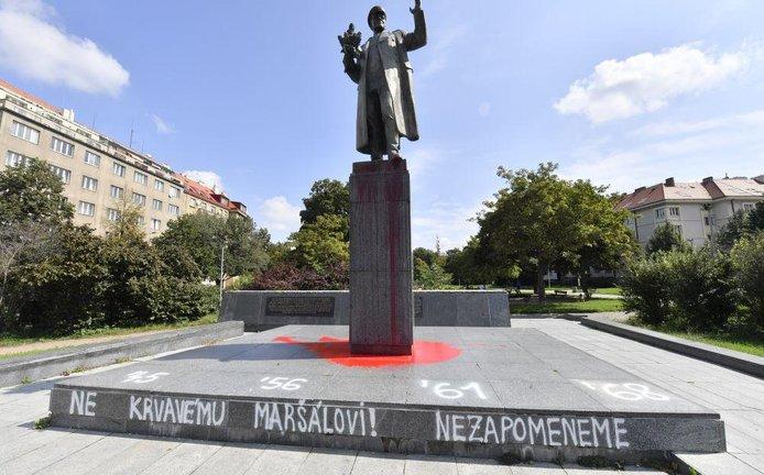Socha sovětského maršála Ivana Koněva na Praze 6