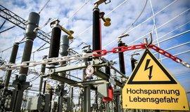 Přenosová soustava německé společnosti Amprion, ilustrační foto