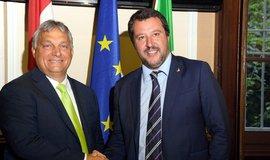 Maďarský premiér Viktor Orbán a italský vicepremiér a ministr vnitra Matteo Salvini, archivní foto