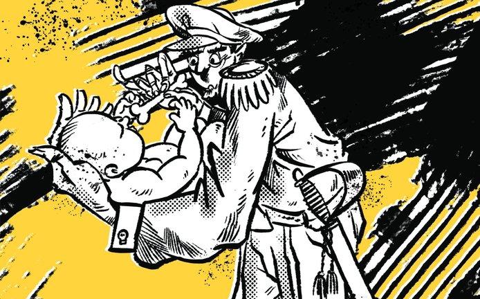 Ilustrace k eseji Maminka v domácnosti, tatínek diktátor