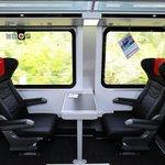 Interiér rychlovlaku Českých drah Railjet