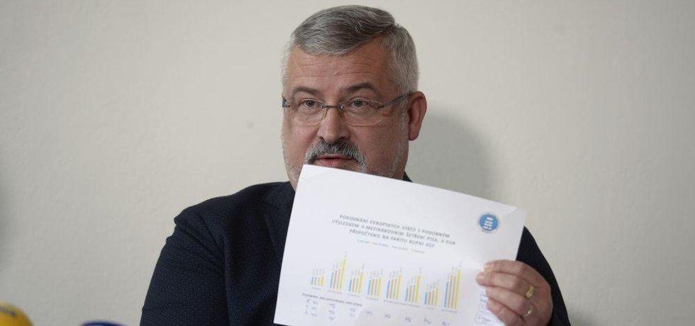 Předák školských odborů František Dobšík