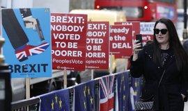 Demonstrace odpůrců brexitu, ilustrační foto