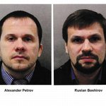 Alexander Petrov a Ruslan Boširov, podezřelí z přípravy útoku na Skripalovy