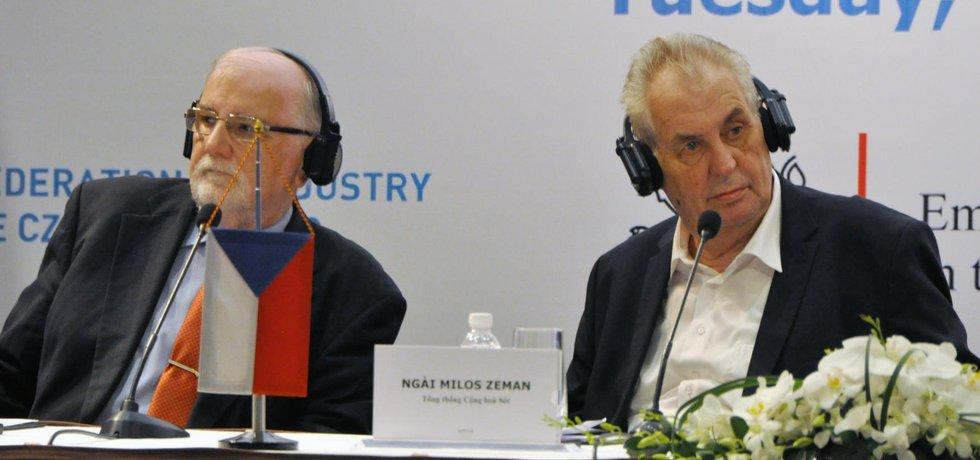 Jaroslav Hanák a Miloš Zeman
