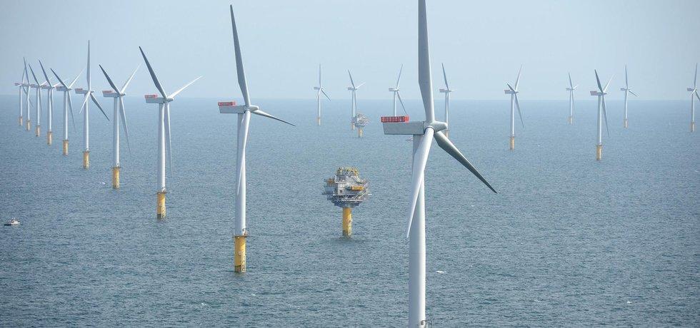 Větrná elektrárna - ilustrační foto