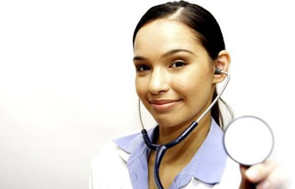 sestra, lékařka, stetoskop