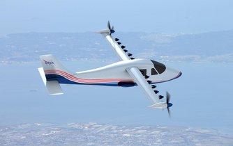 Elektrické letadlo z dílny americké NASA