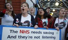 Pracovnice britského zdravotnictví ve stávce