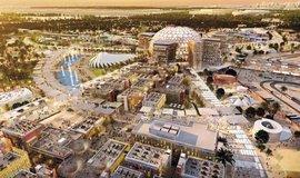 Centrem celého výstavního městečka je obrovský skleněný dóm Al-Wasl